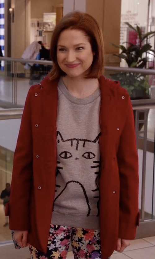 Ellie Kemper with Save The Duck Hoodied Paradise Coat in Unbreakable Kimmy Schmidt