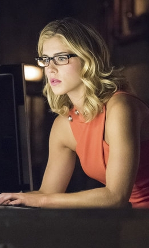 Emily Bett Rickards with Jastime 'Soho' Two Tone Eyeglasses in Arrow