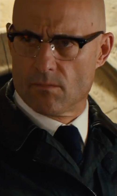 Mark Strong with Cutler & Gross 0755 Frame Eyeglasses in Kingsman: The Golden Circle