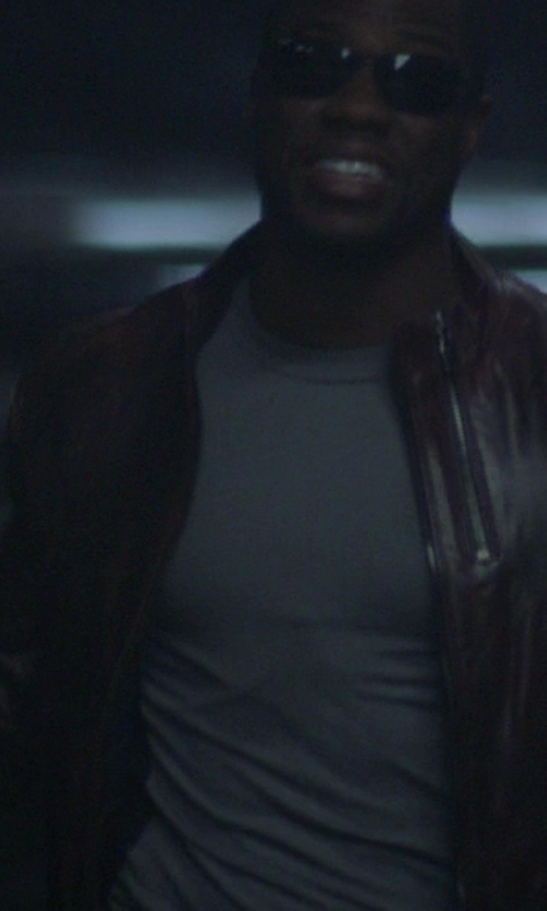Kevin Hart with River Island Dark Red Quilted Panel Biker Jacket in Ride Along