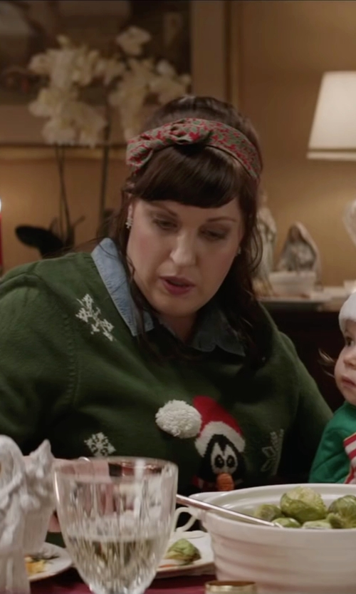 Allison Tolman with H&M Denim Jacket in Krampus
