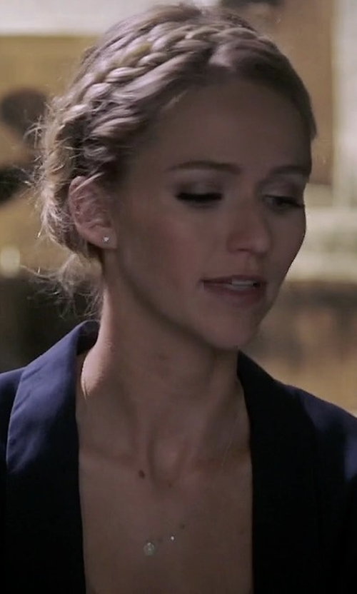 Johanna Braddy with Neiman Marcus Cashmere Collection Modern Open Cashmere Cardigan in Quantico