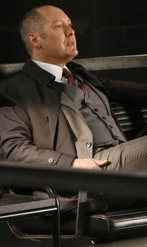 James Spader with Dsquared2 London Wool Gabardine 3 Piece Suit in The Blacklist
