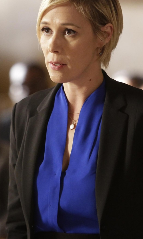 Liza Weil with Elie Tahari Judith Silk Blouse in How To Get Away With Murder