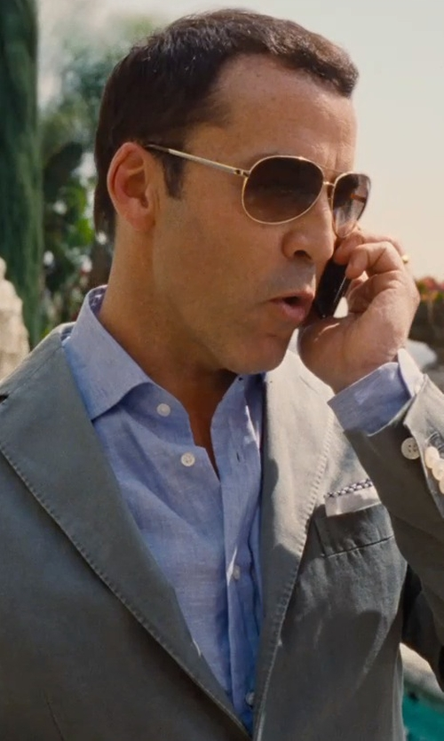 Jeremy Piven with Domenico Vacca Linen Dress Shirt in Entourage