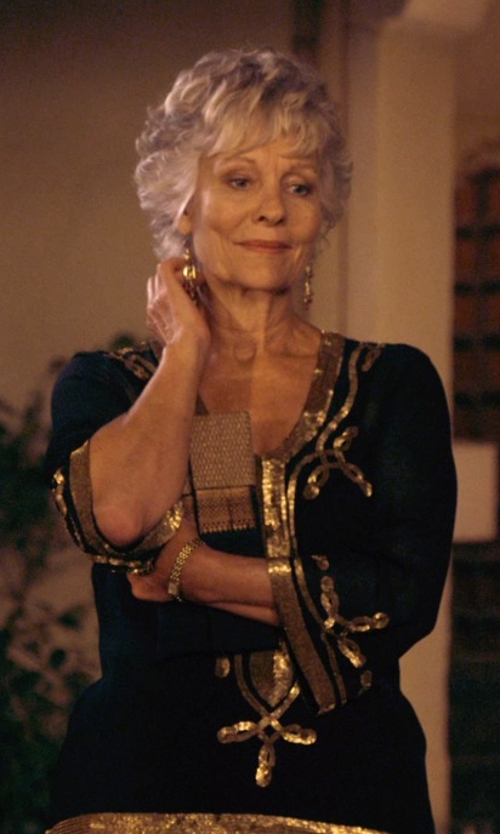 Diana Hardcastle with Rajwadi Winsome Wedding Wear Black Pakistani Suit in The Second Best Exotic Marigold Hotel