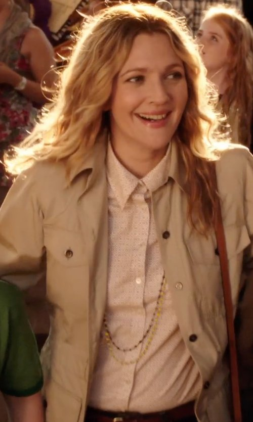 Drew Barrymore with Delia's Button-Down Ditsy Floral Shirt in Blended