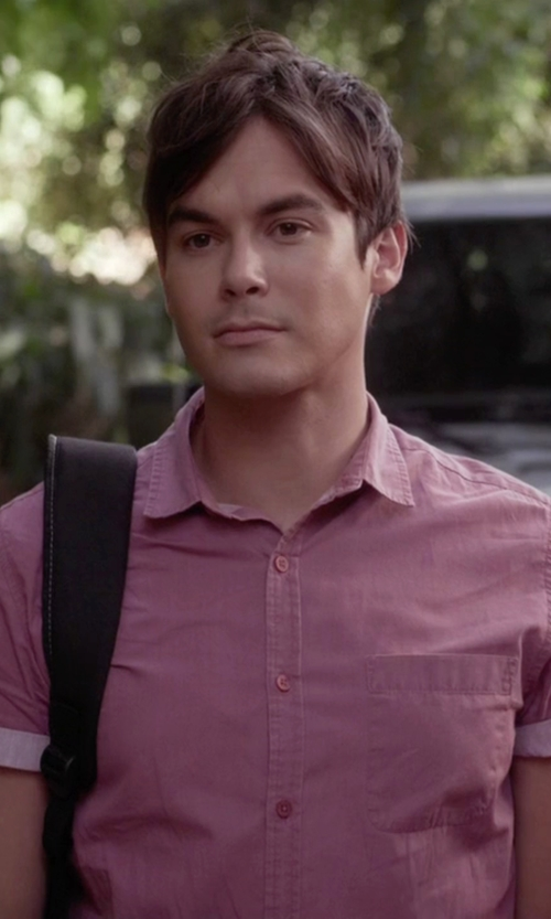 Tyler Blackburn with The North Face  Short Sleeve Coyote Creek Shirt in Pretty Little Liars