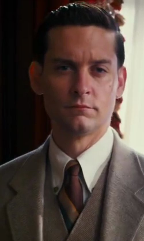 Tobey Maguire with Pink Winchester Plain Shirt - Double Cuff in The Great Gatsby