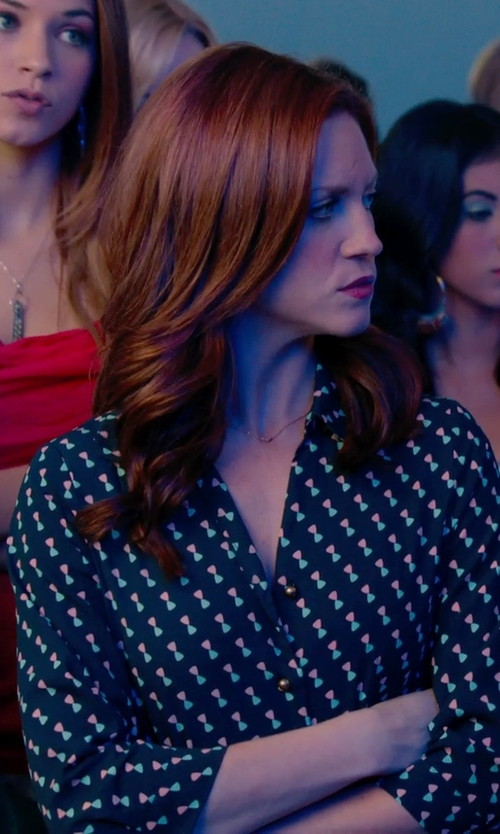 Brittany Snow with Maya Brenner Designs	 Mini 2-Letter Personalized Necklace in Pitch Perfect 2