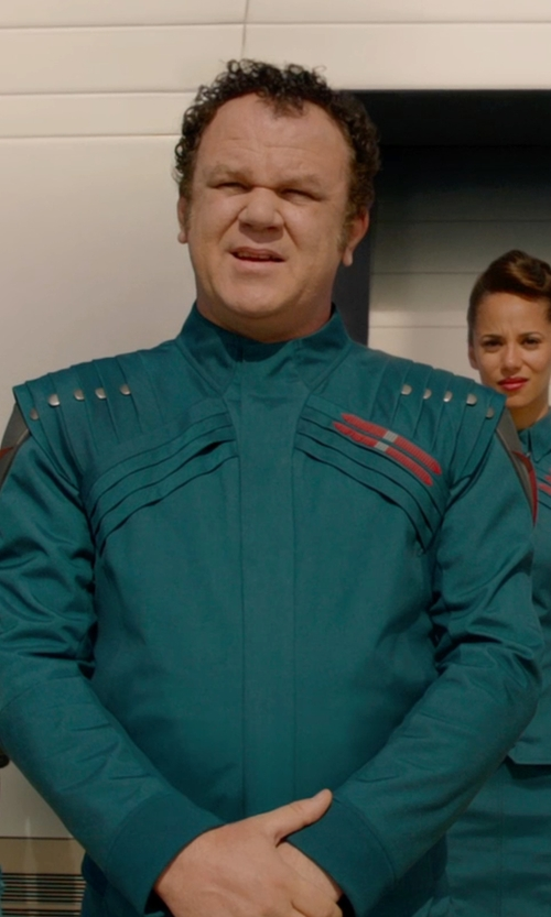 John C. Reilly with Alexandra Byrne (Costume Designer) Custom Made Costume (Rhomann Dey) in Guardians of the Galaxy