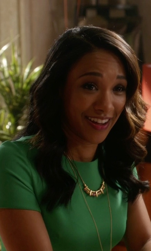 Candice Patton with Pamela Love Mini Tribal Spike Pendant Necklace in The Flash