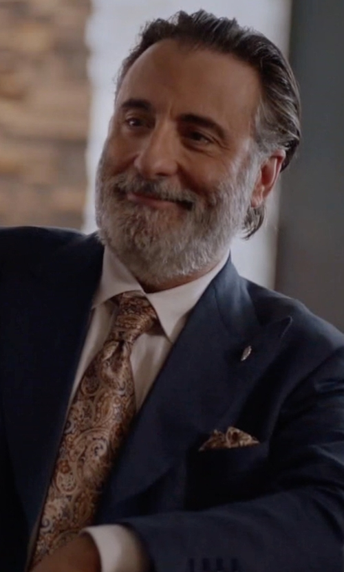 Andy Garcia with Ermenegildo Zegna Torino Peak-Lapel Two-Piece Wool Suit in Ballers