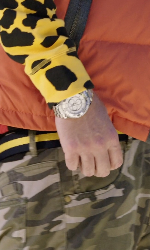 Will Ferrell with Michael Kors 'Silvertone Oversize Iconic' Chronograph Watch in Get Hard