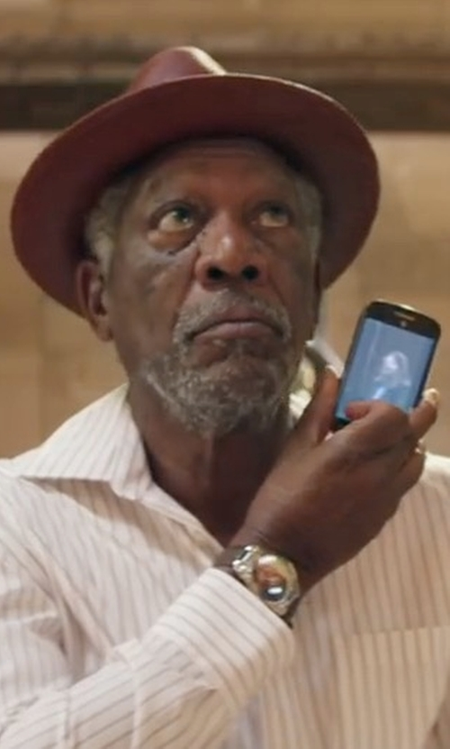 Morgan Freeman with Ike Behar Gold Label Striped Dress Shirt in Going In Style