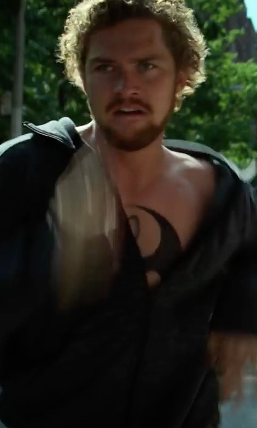 Finn Jones with Polo Ralph Lauren Regular-Fit Zip Track Jacket in Marvel's Iron Fist