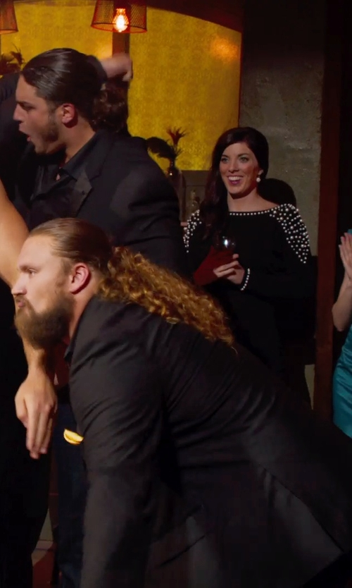 David Bakhtiari with Saks Fifth Avenue Collection Silk Solid Pocket Square in Pitch Perfect 2