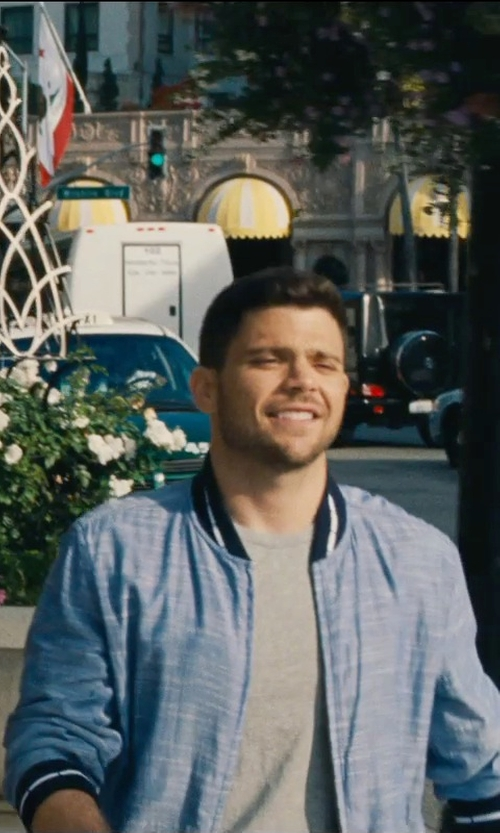 Jerry Ferrara with Gant Rugger Chambray Varsity Jacket in Entourage