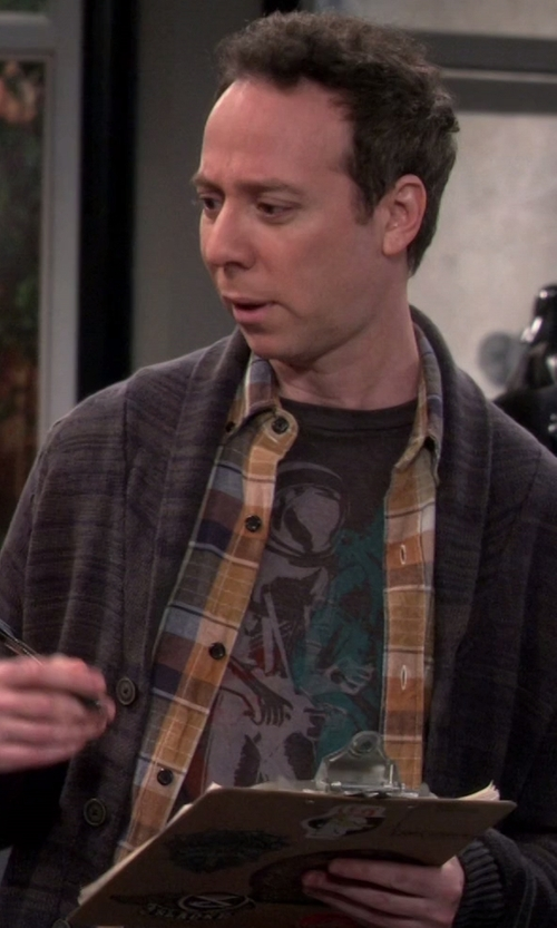 Kevin Sussman with Dolphin Shirt Co. Space Astronaut Man on the Moon T-Shirt in The Big Bang Theory