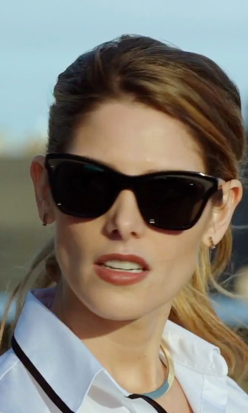 Ashley Greene with Miu Miu Butterfly Sunglasses in Urge