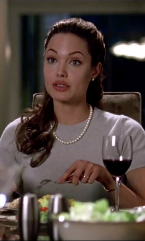 Angelina Jolie with Tara Pearls South Sea Pearl Strand Necklace in Mr. & Mrs. Smith