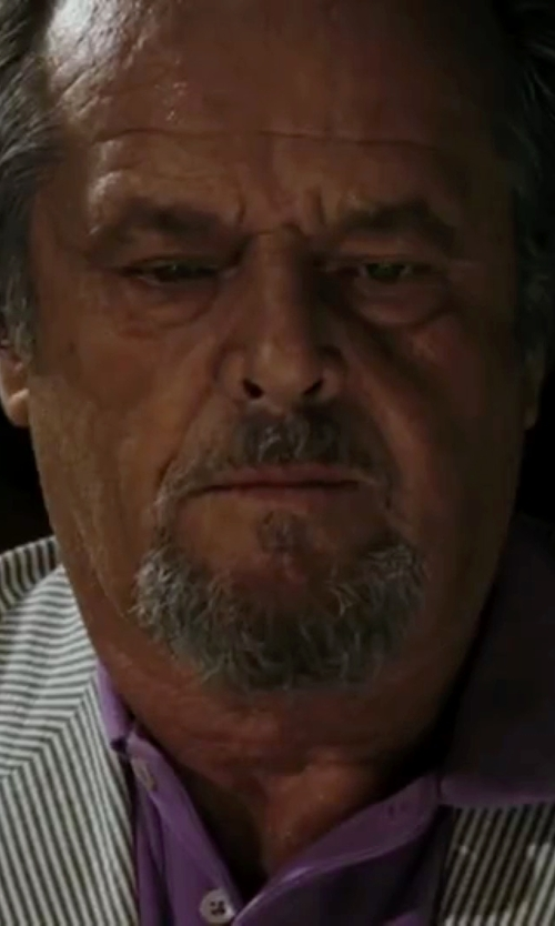 Jack Nicholson with Kent and Curwen Striped Wool Blazer in The Departed