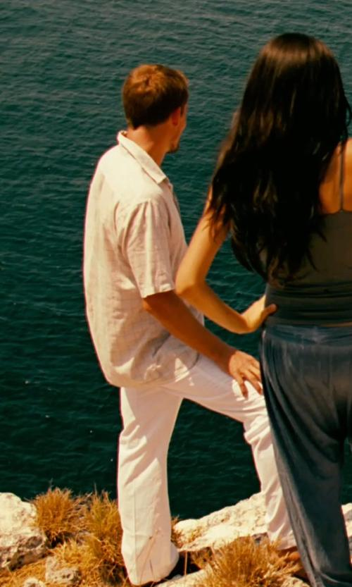 Unknown Actor with Ralph Lauren Linen Dress Pants in Limitless