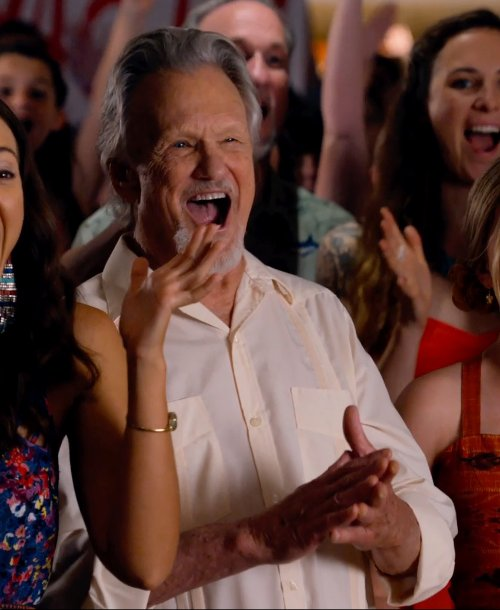 Kris Kristofferson with Mr. Start Square Collar Oxford Shirt in Dolphin Tale 2
