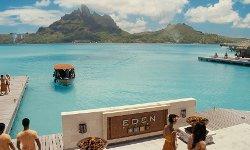 Vince Vaughn with The St. Regis Bora Bora Resort (Depicted as Eden Resort) Bora Bora, French Polynesia in Couple's Retreat