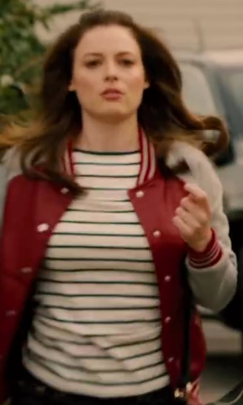 Gillian Jacobs with MHL BY MARGARET HOWELL Matelot Stripe Tee in Walk of Shame