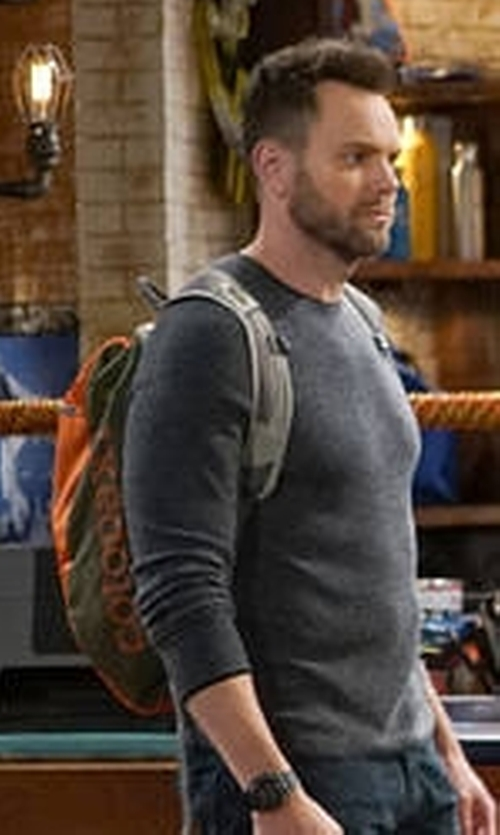 Joel McHale with Cotopaxi Luzon Backpack in The Great Indoors