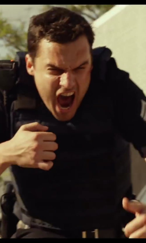 Jake Johnson with Point Blank Extra Microfiber Carrier for Galls by Point Blank GL Body Armor in Let's Be Cops