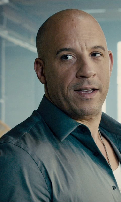 Vin Diesel with Dolce & Gabbana Slim Shirt in Furious 7