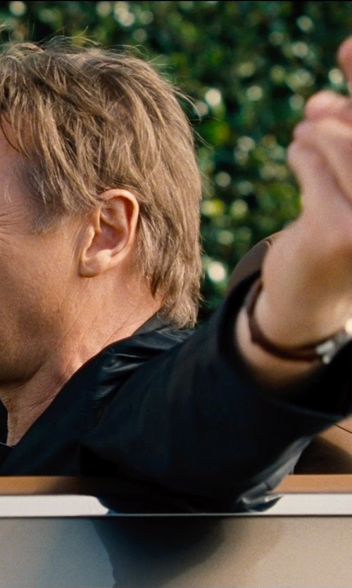 Liam Neeson with Boss Hugo Boss Leather Strap Chronograph Watch in Entourage