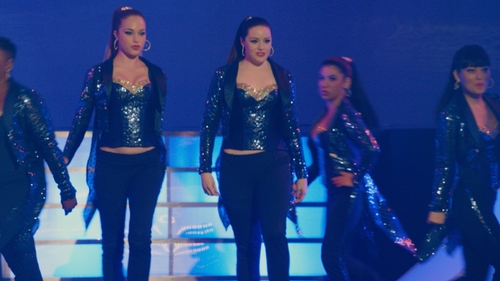 Alexis Knapp with J.Crew Tuxedo Pants in Pitch Perfect 2