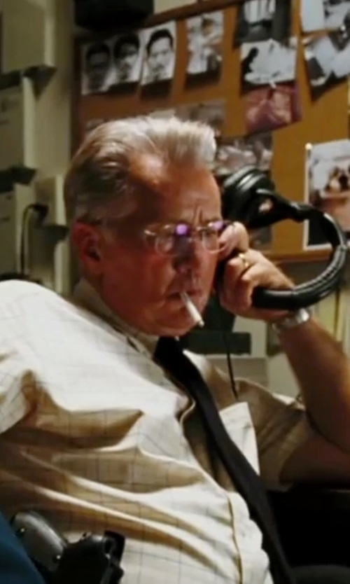 Martin Sheen with Edwin Chronograph Bracelet Watch in The Departed
