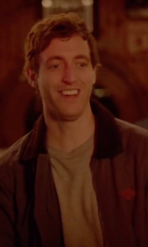 Thomas Middleditch with Barbour Beaufort Waxed Jacket in Joshy