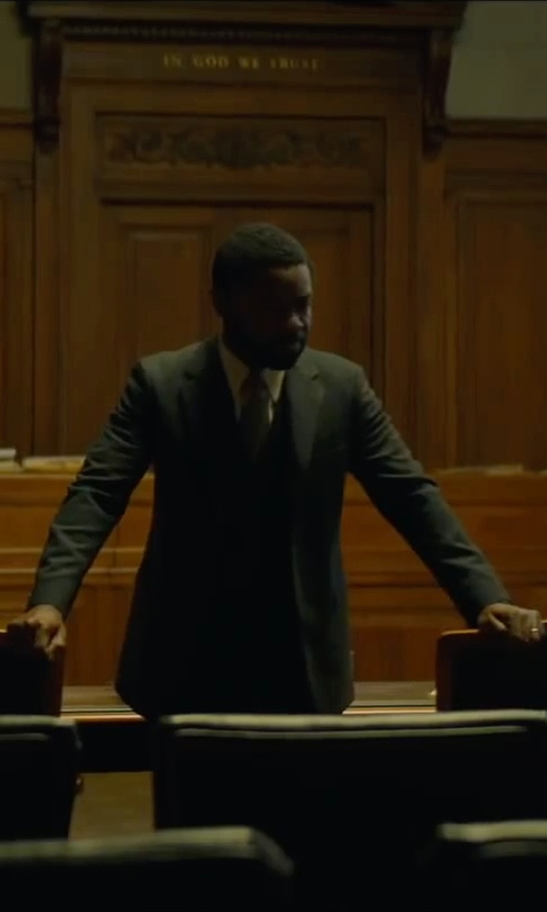 David Oyelowo with Brioni Broadcloth Dress Shirt in A Most Violent Year
