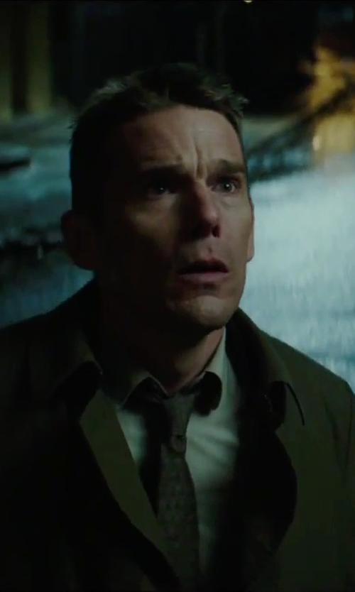 Ethan Hawke with Forzieri Cotton Dress Shirt in Regression