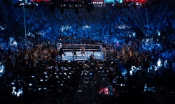 Jake Gyllenhaal with Kovalchick Convention and Athletic Complex (Depicted as Madison Square Garden) Indiana, Pennsylvania in Southpaw