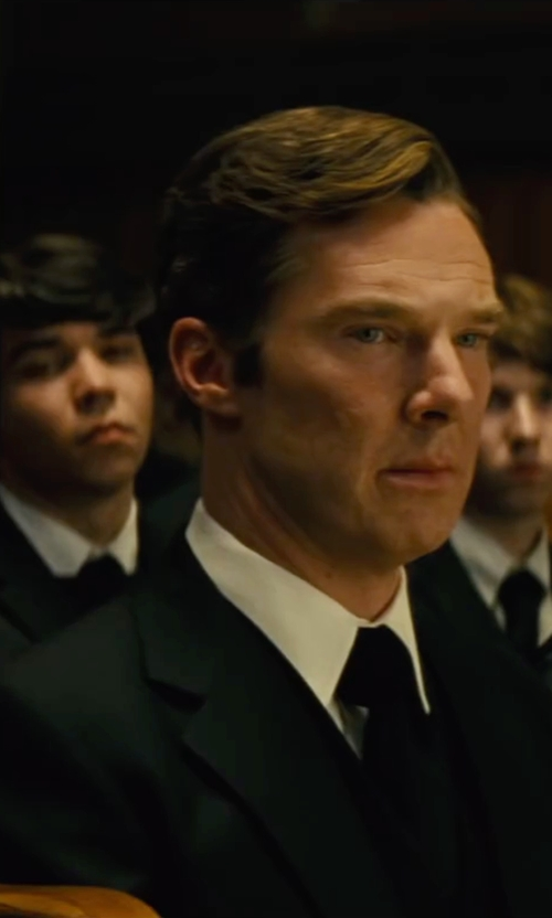 Benedict Cumberbatch with Dolce & Gabbana Two Piece Suit in Black Mass