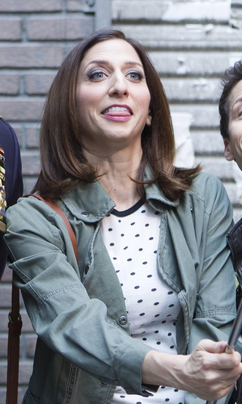 Chelsea Peretti with J. Jill Brushed Cotton Field Jacket in Brooklyn Nine-Nine