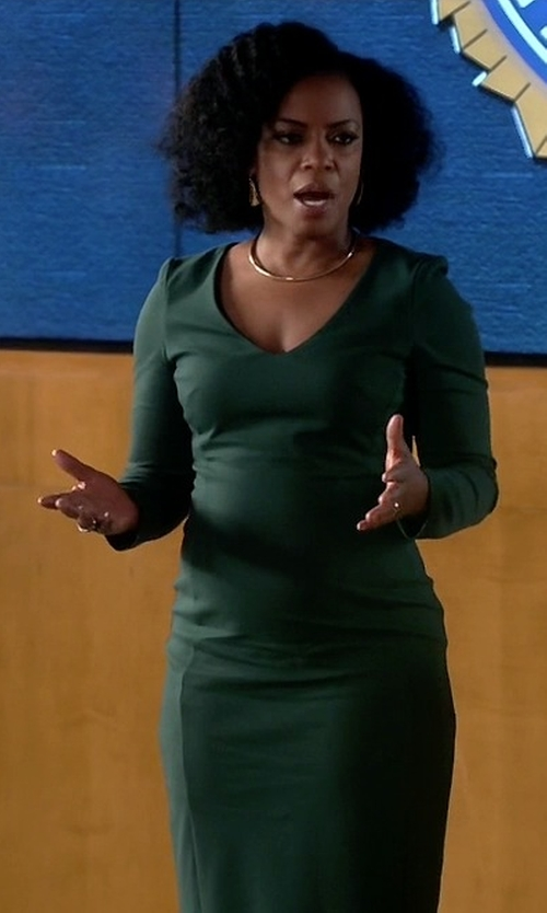 Aunjanue Ellis with Joseph 'Olivia' Jersey Dress in Quantico