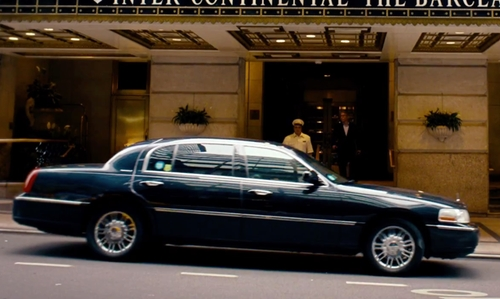 Owen Wilson with Lincoln 2011 Town Car in She's Funny That Way