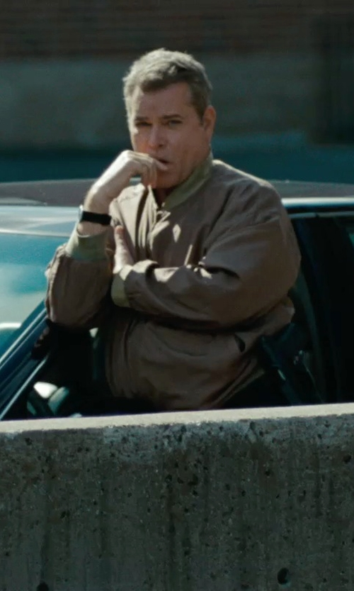 Ray Liotta with Tasso Elba Microsuede Bomber Jacket in The Place Beyond The Pines
