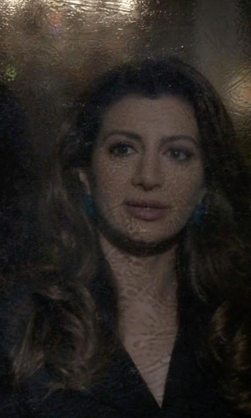 Nasim Pedrad with Marcia Moran Cats Eye Earrings in Scream Queens