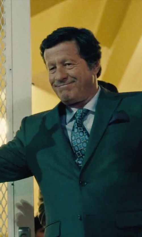 Joaquim de Almeida with Paul Smith Men's Navy Plain Washed Pocket Square in Our Brand Is Crisis