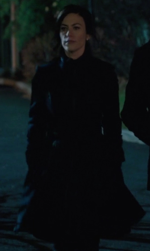 Maggie Siff with Ivanka Trump  Belted Trench Coat in Billions