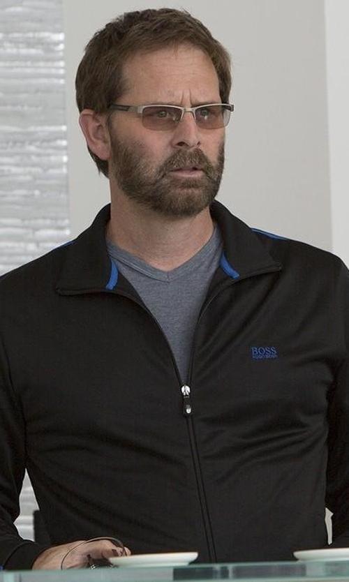 Jeffrey Nordling with Boss Hugo Boss Skaz Full-Zip Logo Jacket in Big Little Lies