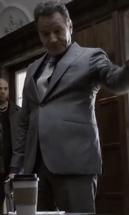 Bryan Cranston with Boss Hugo Boss Johnstons Lennon Melange Plaid Suit in Sneaky Pete